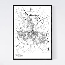 Load image into Gallery viewer, Map of Carlisle, United Kingdom