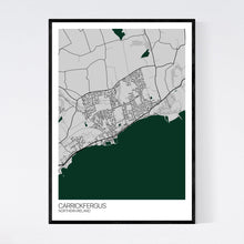 Load image into Gallery viewer, Carrickfergus Town Map Print