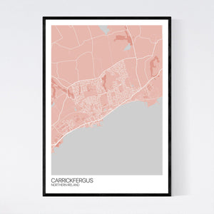Map of Carrickfergus, Northern Ireland