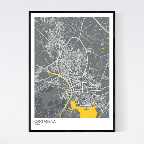 Map of Cartagena, Spain