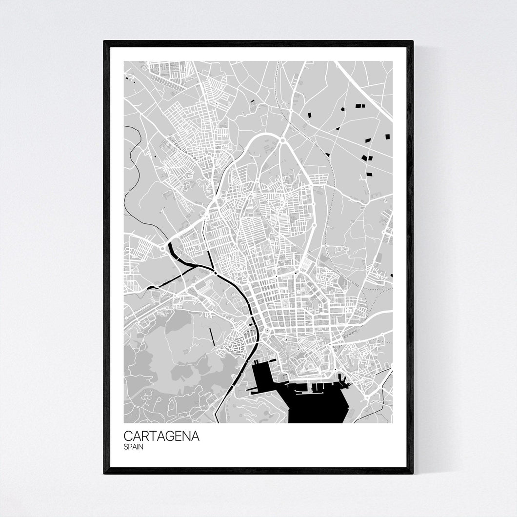 Cartagena City Map Print