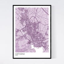 Load image into Gallery viewer, Cartagena City Map Print