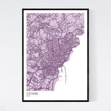 Load image into Gallery viewer, Catania City Map Print