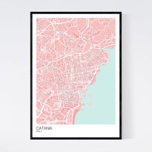 Load image into Gallery viewer, Map of Catania, Italy