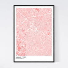 Load image into Gallery viewer, Charlotte City Map Print