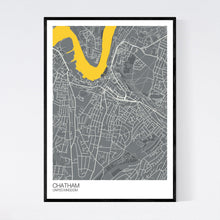 Load image into Gallery viewer, Chatham City Map Print