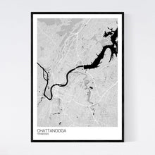 Load image into Gallery viewer, Chattanooga City Map Print
