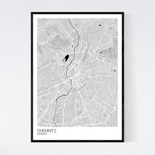 Load image into Gallery viewer, Chemnitz City Map Print