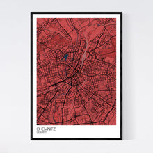 Load image into Gallery viewer, Map of Chemnitz, Germany