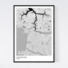 Load image into Gallery viewer, Chesapeake City Map Print