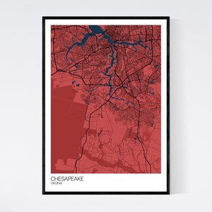 Chesapeake City Map Print