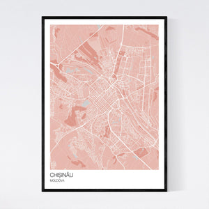Chișinău City Map Print