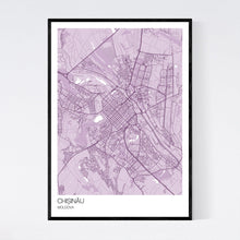 Load image into Gallery viewer, Chișinău City Map Print