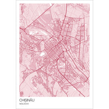 Load image into Gallery viewer, Map of Chișinău, Moldova
