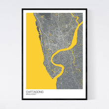 Load image into Gallery viewer, Chittagong City Map Print