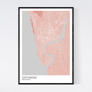 Chittagong City Map Print
