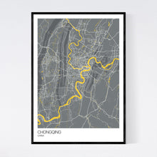 Load image into Gallery viewer, Chongqing City Map Print