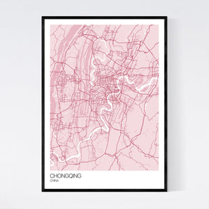 Chongqing City Map Print