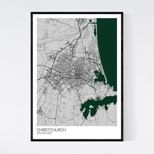 Load image into Gallery viewer, Christchurch City Map Print
