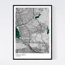 Load image into Gallery viewer, Chula Vista City Map Print