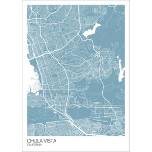 Map of Chula Vista, California