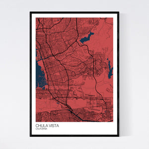 Chula Vista City Map Print