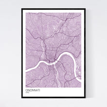 Load image into Gallery viewer, Map of Cincinnati, Ohio