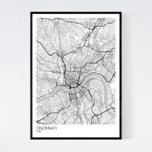 Load image into Gallery viewer, Cincinnati City Map Print