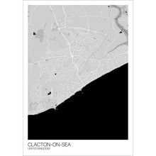 Load image into Gallery viewer, Map of Clacton-on-Sea, United Kingdom