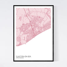 Load image into Gallery viewer, Clacton-on-Sea City Map Print