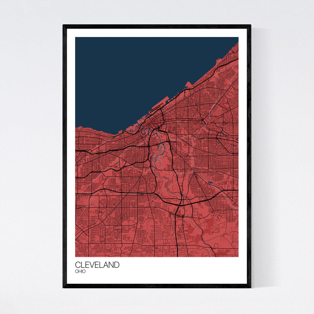 Cleveland City Map Print