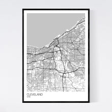 Load image into Gallery viewer, Cleveland City Map Print