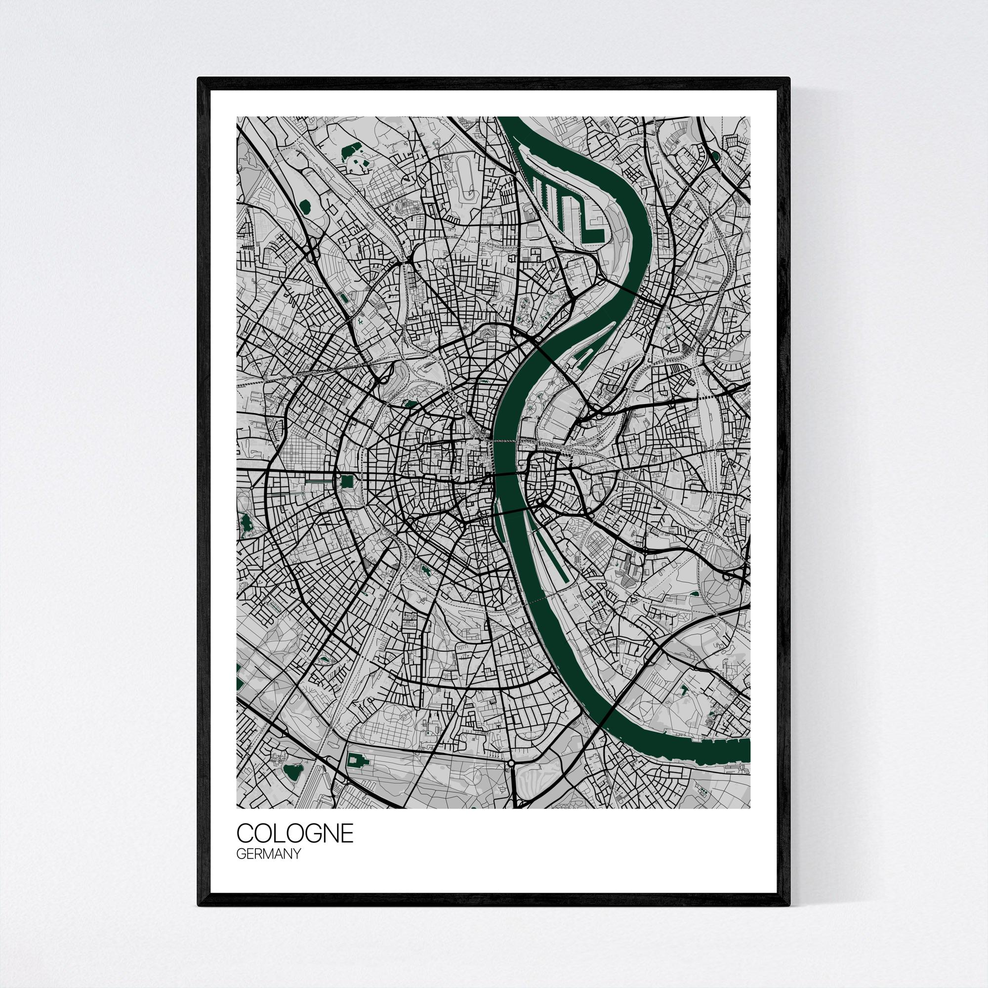 Cologne City Map Print