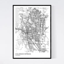 Load image into Gallery viewer, Colorado Springs City Map Print