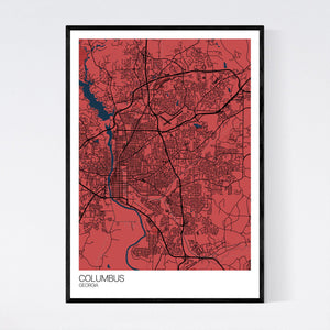 Columbus City Map Print