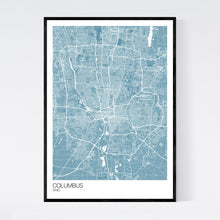 Load image into Gallery viewer, Map of Columbus, Ohio