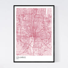 Load image into Gallery viewer, Columbus City Map Print
