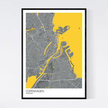 Load image into Gallery viewer, Copenhagen City Map Print