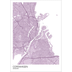 Map of Copenhagen, Denmark