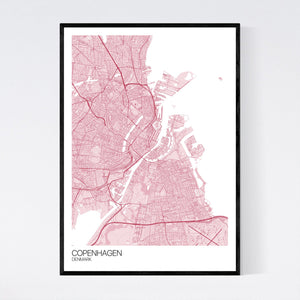Copenhagen City Map Print