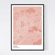 Load image into Gallery viewer, Corby City Map Print