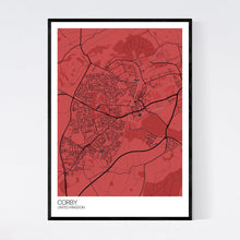 Load image into Gallery viewer, Map of Corby, United Kingdom