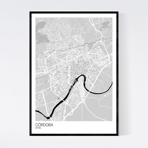 Map of Córdoba, Spain
