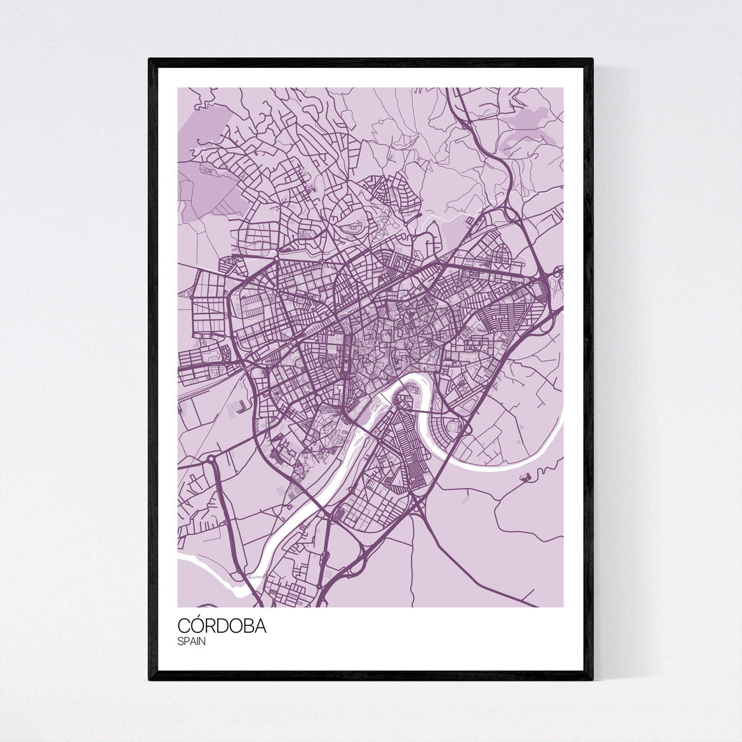 Córdoba City Map Print