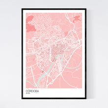 Load image into Gallery viewer, Córdoba City Map Print