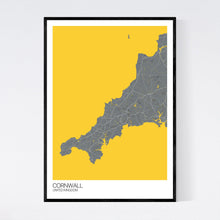 Load image into Gallery viewer, Cornwall Region Map Print