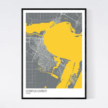 Load image into Gallery viewer, Corpus Christi City Map Print