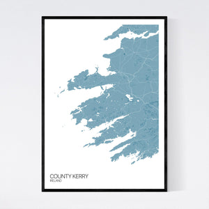 County Kerry Region Map Print