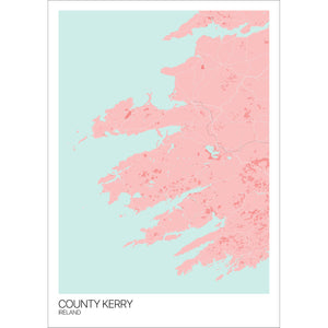 Map of County Kerry, Ireland