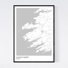 Load image into Gallery viewer, County Kerry Region Map Print